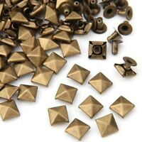 "Pkg of 25 BRONZE PYRAMID 1/4"" (7mm) Metal Rivet Studs (20427) Leather Crafts"