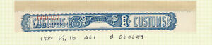 Canada 1880 Cigarette Tax Paid A61 Control # 060057 Imperf Proof MNH