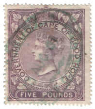 (I.B) Cape of Good Hope Revenue : Duty Stamp £5 (1865)
