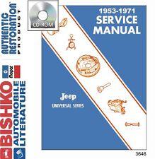 1953 1968 1969 1970 1971 Jeep CJ DJ5 Shop Service Repair Manual CD
