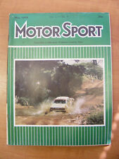 Motor Sport Magazine F1 Sports Road & Historic Cars Issue May 1978 Classic Car