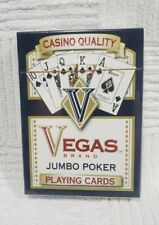 Vegas Brand Casino Quality Jumbo Poker Playing Cards Factory Sealed New Deck