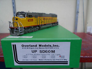 Overland Models Union Pacific SD60M #6335 OMI-5844.1 UP HO Scale Brass