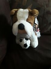 Nuzzlers British Bulldog Football Soft Toy