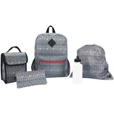 iPack 5 Piece Backpack With Lunch Bag, Waterbottle, Cinch Bag, And Pencil Case