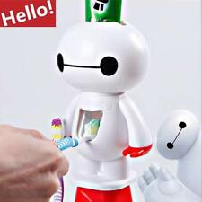 Toothbrush Holder Cartoon Baymax Automatic Toothpaste Dispenser Bathroom Kids