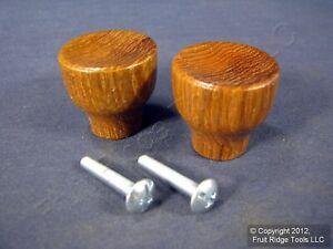 "2 Brainerd 1-3/16"" Tulip Solid Teak Shaker Cabinet Drawer Handle Wood Knobs 286"