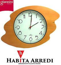 Orologio Cornice in Legno da Parete - Muro GIANNINI Numeri Arabi Stile Onda