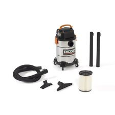 Ridgid Wet Dry Vacuum 4.25 Hp 6 Gal. Portable Casters Stainless Steel Drum