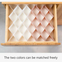 6x Drawer Dividers Plastic Partition Cabinet Clapboard Underwear Socks Organizer