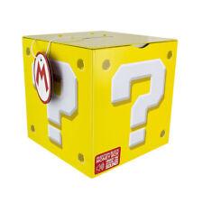 Official Super Mario Question Block Money Box Moneybox Piggy Bank Saver Tin Gift