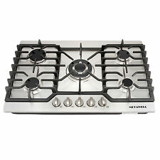 "Hot 30"" Stainless Steel 5 Burner Built-in Stoves LPG Natural Gas Cooktops Cooker"