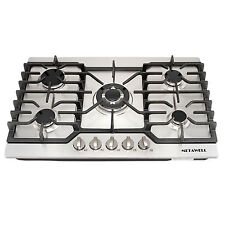 "Luxury 30"" Stainless Steel 5 Burner Built-in Stoves LPG/NG Gas Cooktops Cooker"