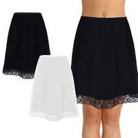 Summer Womens Waist Slip Lady Lace Underskirt Petticoat Extender Half Slip Retro