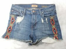 Sts Blue Nordstrom Aztec Embroidered Distressed Short Bootie  Shorts Size 7