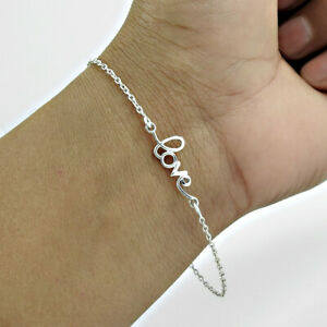 Love Bracelet 925 Solid Sterling Silver HANDMADE Indian Jewelry Q3