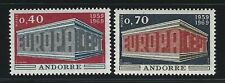 1969 Andorra (French) Scott #188-189 - EUROPA Set of 2 Stamps - MNH