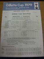 22/08/1979 Cricket Scorecard: Gillette Cup Semi-Final - Middlesex v Somerset [At