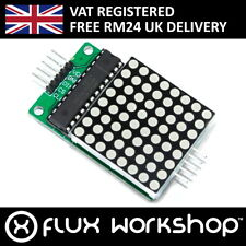 MAX7219 8x8 Red Serial Dot Matrix Display Module LED Pi Arduino Flux Workshop