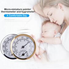 Analog Humidity Gauge Hygrometer Temperature Meter Thermometer Indoor Wall Mount
