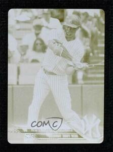 2018 Chrome Update Target Exclusive Printing Plate Yellow 1/1 Giancarlo Stanton