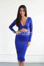 Vestidos de mujer de color principal azul de poliéster talla L