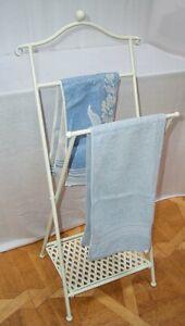 Towel Holder Foldable, Shabby, Nostalgia Handtowel Stand Iron White
