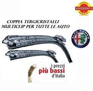 2 spazzole tergicristallo FLAT ANTERIORI ALFA ROMEO 147 da 04/2005 a 12/2010