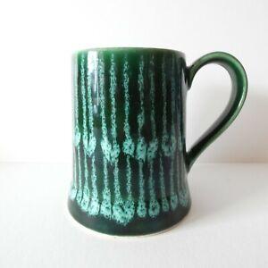 Gmundner Keramic Austria Pottery Mug Drip Green Fat Lava Era 70s Retro Tankard