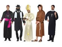 FORUM PRIEST RELIGIOUS SIZE ADULT COSTUME Halloween Cosplay Fancy Dress M1