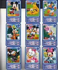 "LOT DE 9 CARTES DISNEY AUCHAN ""MICKEY MOUSE"""