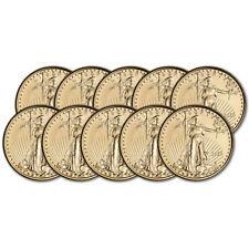 2020 American Gold Eagle 1/10 oz $5 - BU - Ten 10 Coins