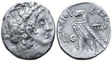 Ancient Silver Ptolemaic Coin Kingdom of Egypt Ptolemy X AR Tetradrachm 96/95 BC