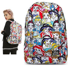 NEW Disney Classic Princesses Backpack School Book Bag w/Laptop Pocket Loungefly