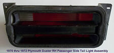 1970-1971 Plymouth Duster Tail Light Assembly R-H Passenger Side P/N's 58622