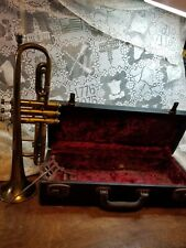 Vintage Cavalier Trumpet Made in Elkhart IN USA /Case