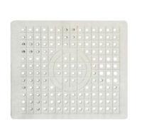 Rubber Drainer Mat Anti Slip Mat 25cm x 30cm Ideal For Sinks Off White Colour