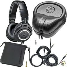 Audio Technica M50X Black Monitor DJ Studio Headphones & Slappa HP07 Hard Case