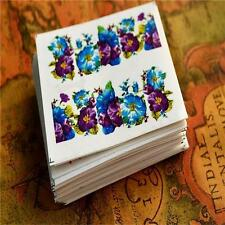50pcs Multi-Style Nail Art Transfer Stickers Decoration Flower Decals Sheets JK