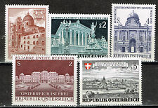 Austria Wiena Faimous Architecture stamps set 1972 MNH