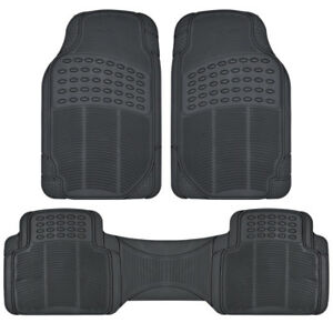 Rubber Liner for Honda CR-V Floor Mats Black 3 Piece Semi Custom Fit All Weather