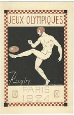France 1924 Paris Olympics 15c Petain picture stationery of Rugby unused