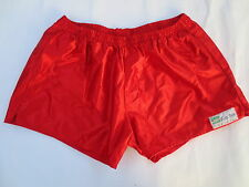 VINTAGE Short SKERDIER nylon St Malo shiny satin brillant XL made in France red