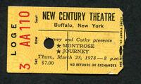 Original 1978 Journey Montrose Van Halen concert ticket stub Buffalo NY Infinity