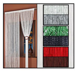 AeMBe Spaghetti Fadenvorhang Fadengardine Türvorhang Vorhang Gardine 300X250 cm