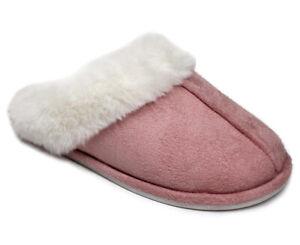 Jessica Simpson Women's Faux Fur Mule Slide w/ Seam - Dusty Pink AJ492