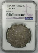 1770-MO MF Mexico 8 Reales Silver Coin NGC XF Details Graffiti