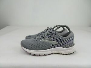 Brooks Adrenaline GTS 19 Running Athletic Shoes Grey/Lavender Womens Size 9.5 B
