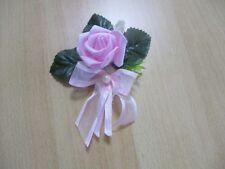 Tischdekoration 6 teilig  Blum,rosa Tischdeko Hochzeit Kommunion Taufe Verlobung