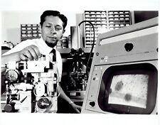 1967 Vintage Photo NASA JPL Doctor Soffen uses Kintel Microscope TV Camera